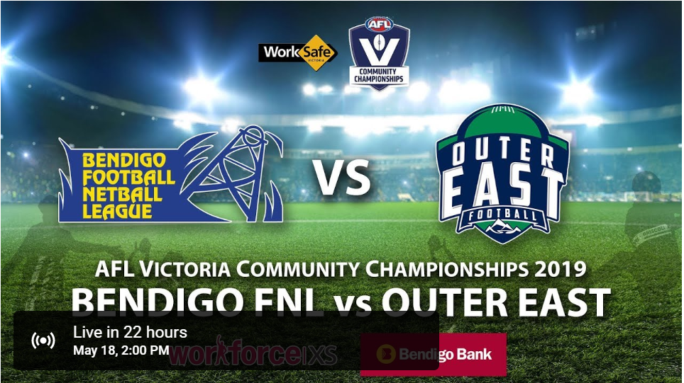 2019 BFNL v AFL Outer East Inter League - Can't make the game - get it here LIVE!